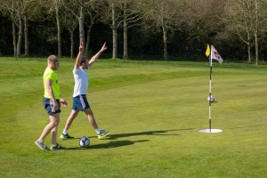 Sapey FootGolf Action Shot